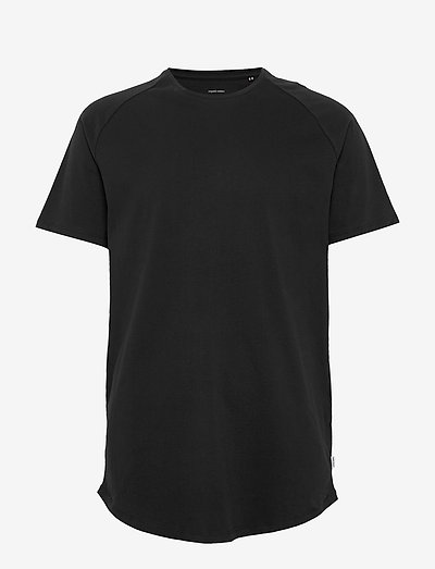 JJECURVED TEE SS O-NECK - basic t-shirts - black