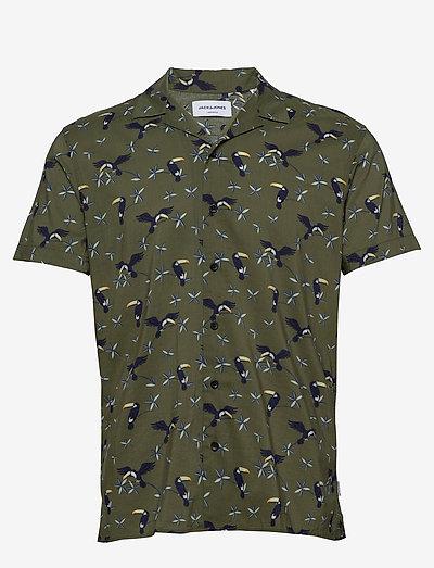 JORLUCAS AOP SHIRT SS SH - kortærmede skjorter - dusty olive