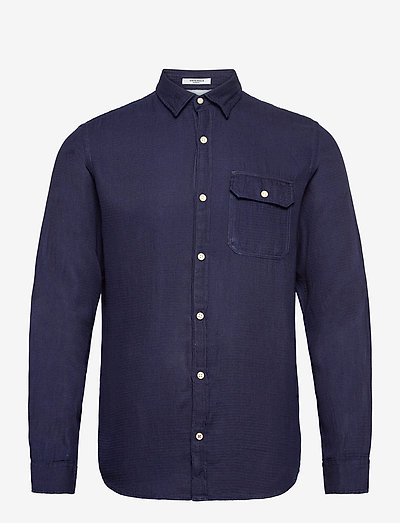 JORNICKI SHIRT LS - basic skjorter - dark blue denim
