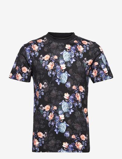 JPRBLAVINCENT TEE SS CREW NECK - kortærmede t-shirts - black