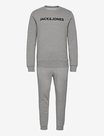 JACLOUNGE SET - nattøj sæt - light grey melange