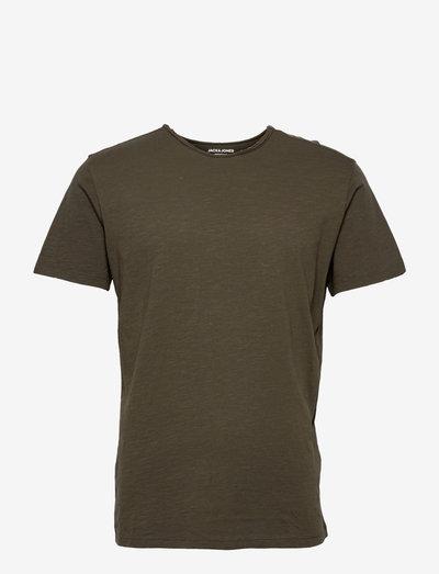 JJEBASHER TEE O-NECK SS - basic t-shirts - forest night