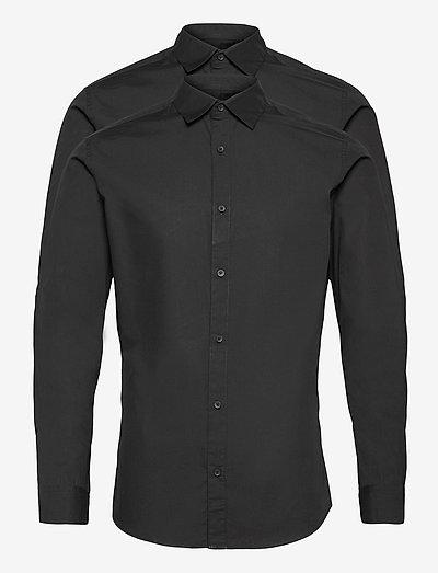 JJJOE SHIRT LS 2 PACK - basic skjorter - black