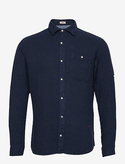JPRBLUNICK MIX SHIRT L/S ONE POCKET LTN - basic skjorter - dark blue denim