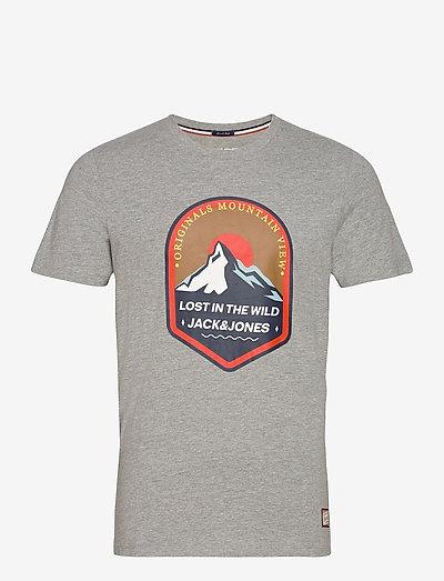 JORRIVER CREEK TEE SS CREW NECK - kortærmede t-shirts - light grey melange