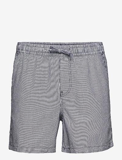 JJIJEFF JJJOGGER SHORTS AKM SEERSUCKER - casual shorts - navy blazer