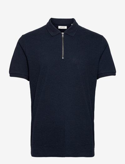 JJSTRUCTURE POLO SS - kurzärmelig - navy blazer