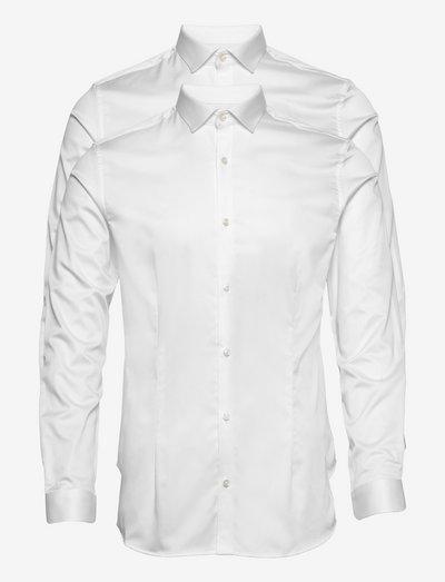 JPRBLAPARMA SHIRT L/S 2-PACK - basic skjorter - white