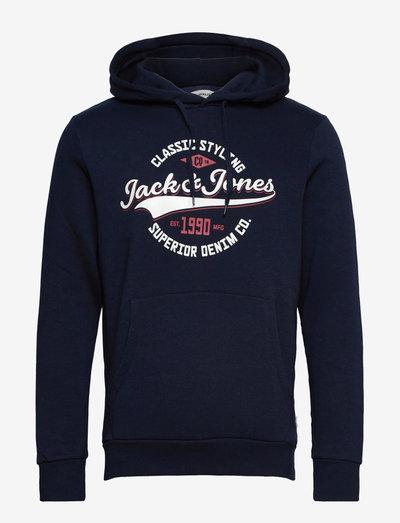 JJELOGO SWEAT HOOD 2 COL 21/22 - hoodies - navy blazer