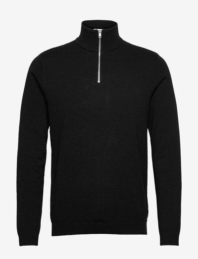 JJEBASIC KNIT HALF ZIP - half zip-trøjer - black