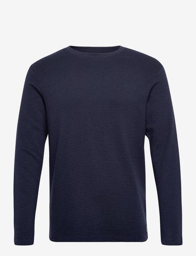 JJEPHILLY TEE LS CREW NECK - basic t-shirts - navy blazer