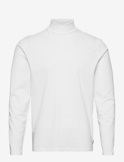 JPRBLASTRETCH ROLL NECK LS TEE - basic t-shirts - white