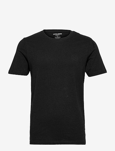 JJEORGANIC LOGO TEE SS O-NECK - basic t-shirts - black