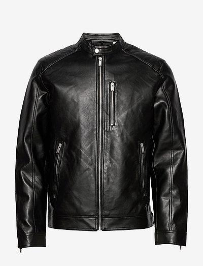 JJMASON PU JAKCET - læderjakker - black