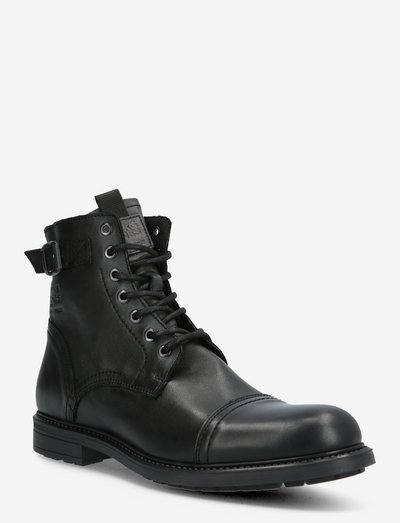 JFWSHELBY LEATHER BOOT SN - med snøre - anthracite