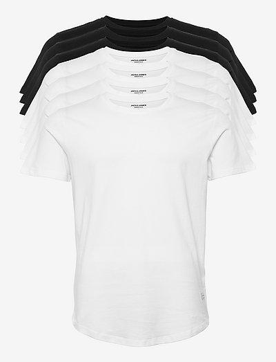 JJENOA TEE SS CREW NECK 7PK MP - kortærmede t-shirts - white
