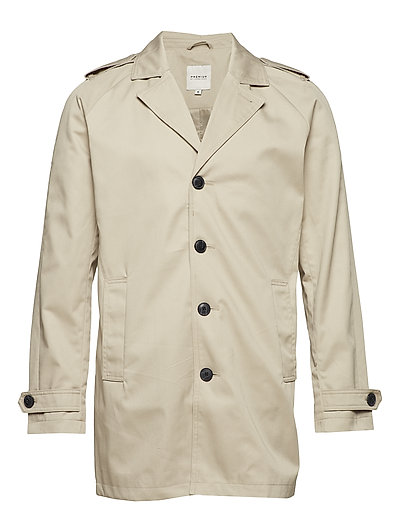 JPRDAVID TRENCHCOAT NOOS - FEATHER GRAY