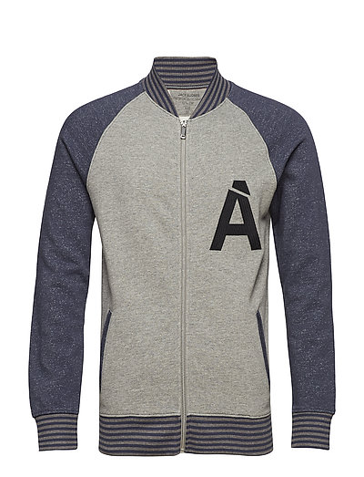 jprADAM SWEAT BASEBALL JACKET OFW - GREY MELANGE