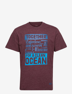 SEA GROUND T M - t-shirts - cordovan red