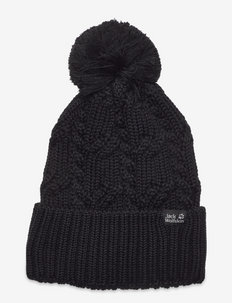 STORMLOCK POMPOM BEANIE - bonnet - black