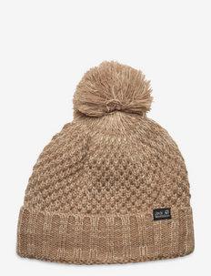 HIGHLOFT KNIT CAP WOMEN - bonnets - beige