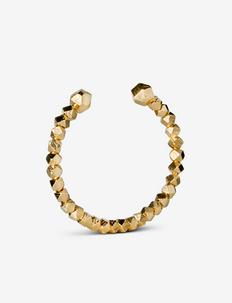 Chunky Bead Bracelet - bangles - gold