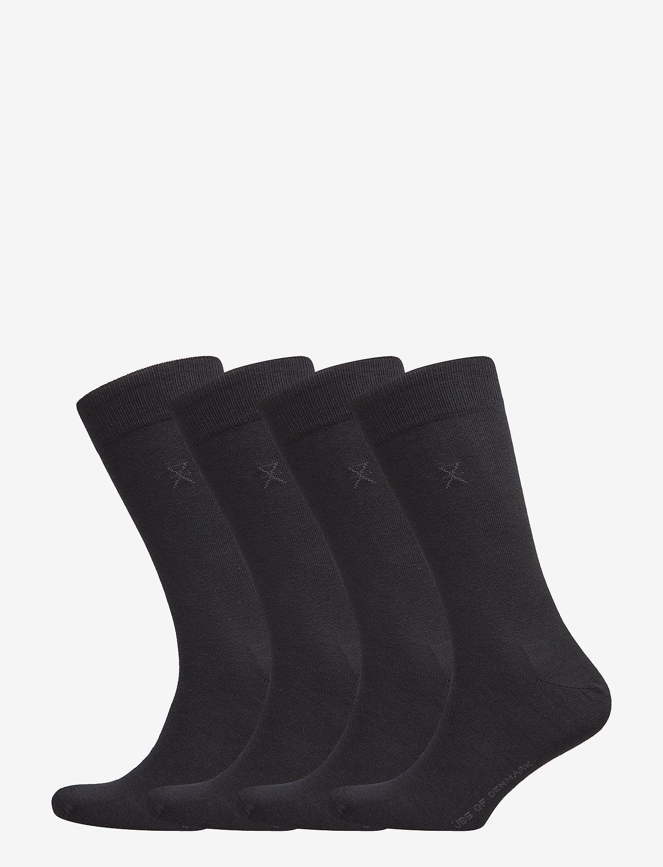 JBS of Denmark - JBS of dk socks cotton 4-pack - chaussettes régulières - black - 0