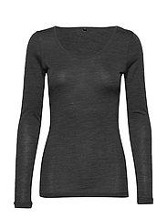 JBS of DK t-shirt LS wool - DARK GRAY