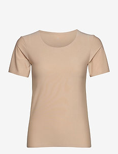 JBS of DK t-shirt rec polyeste - short-sleeved blouses - nude