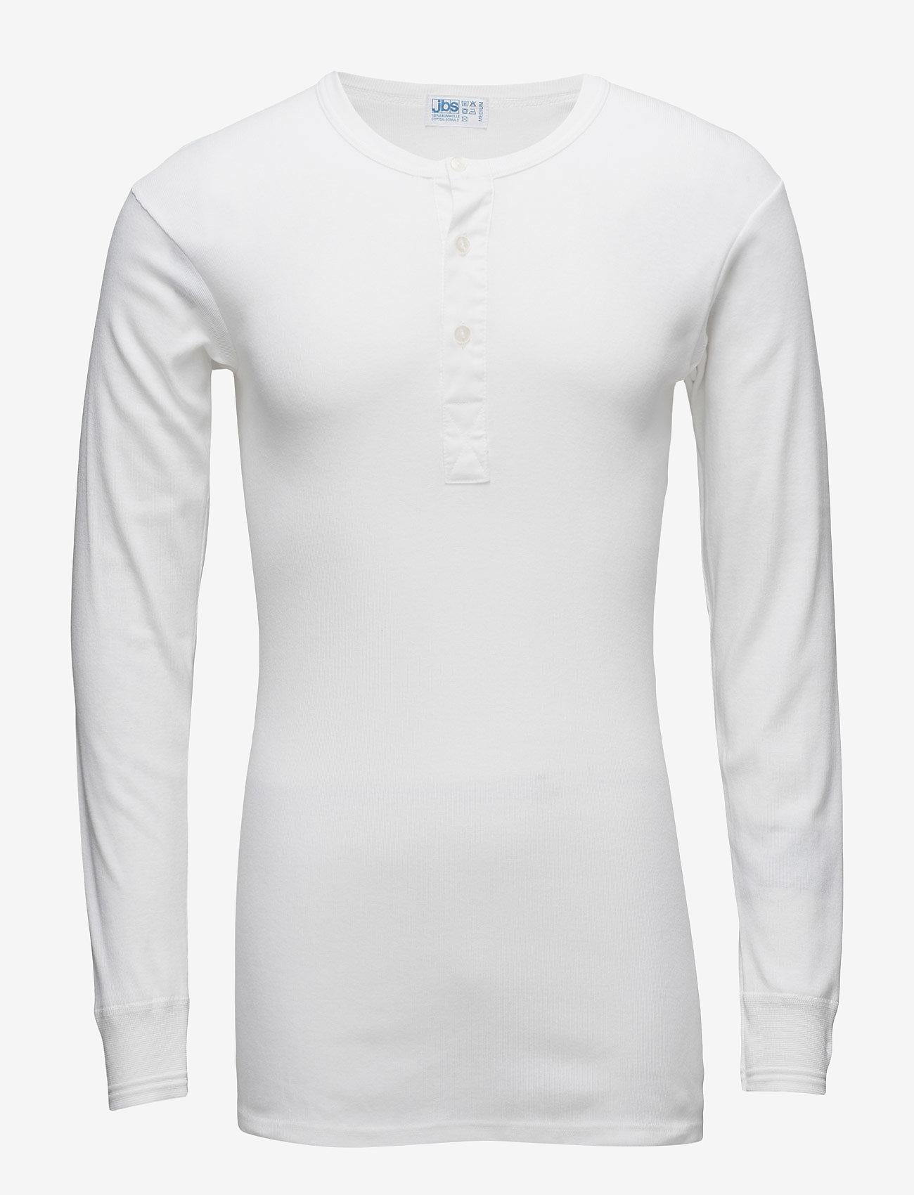 JBS - Original longsleeve buttons - basic t-shirts - white