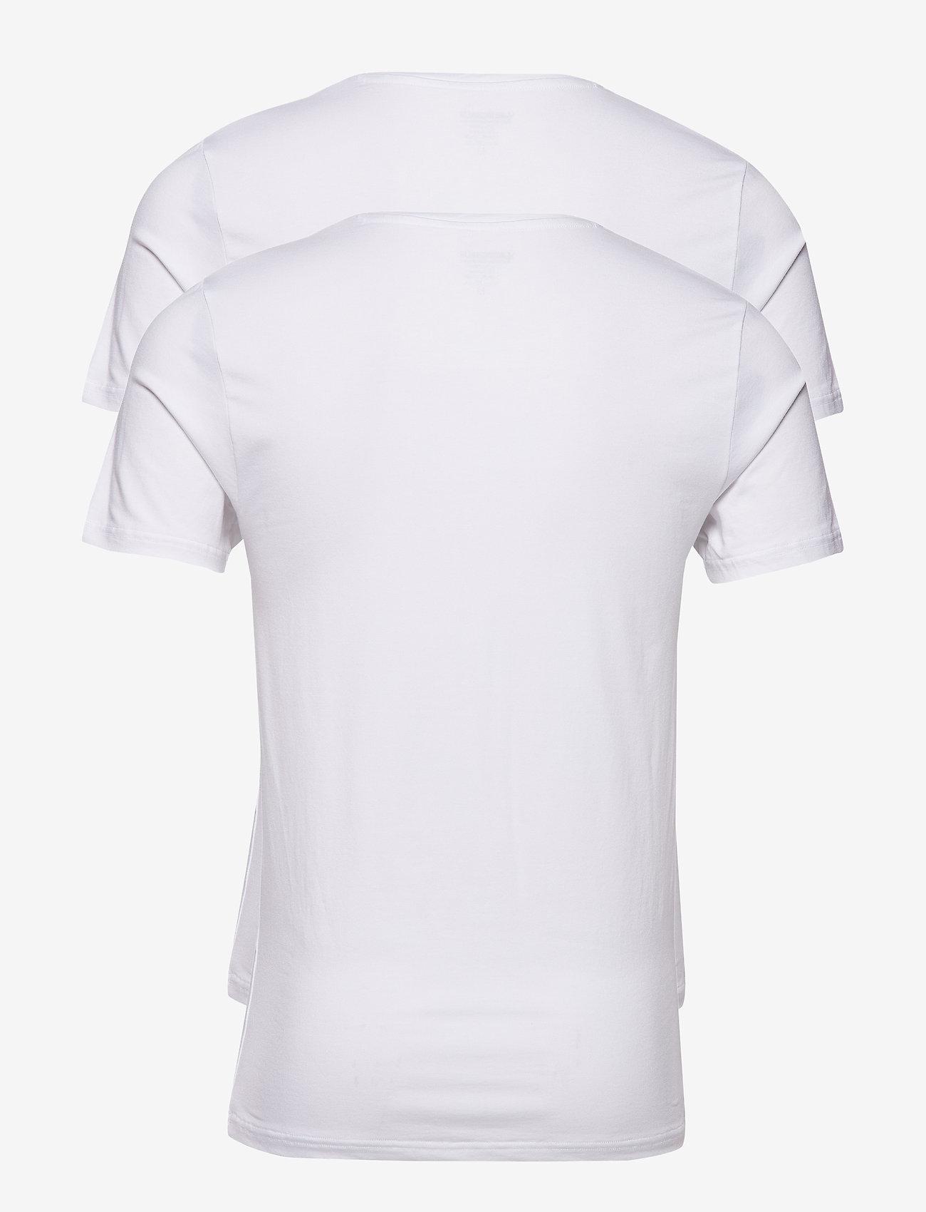 JBS JBS 2-pack V-neck bamboo - T-skjorter WHITE - Menn Klær