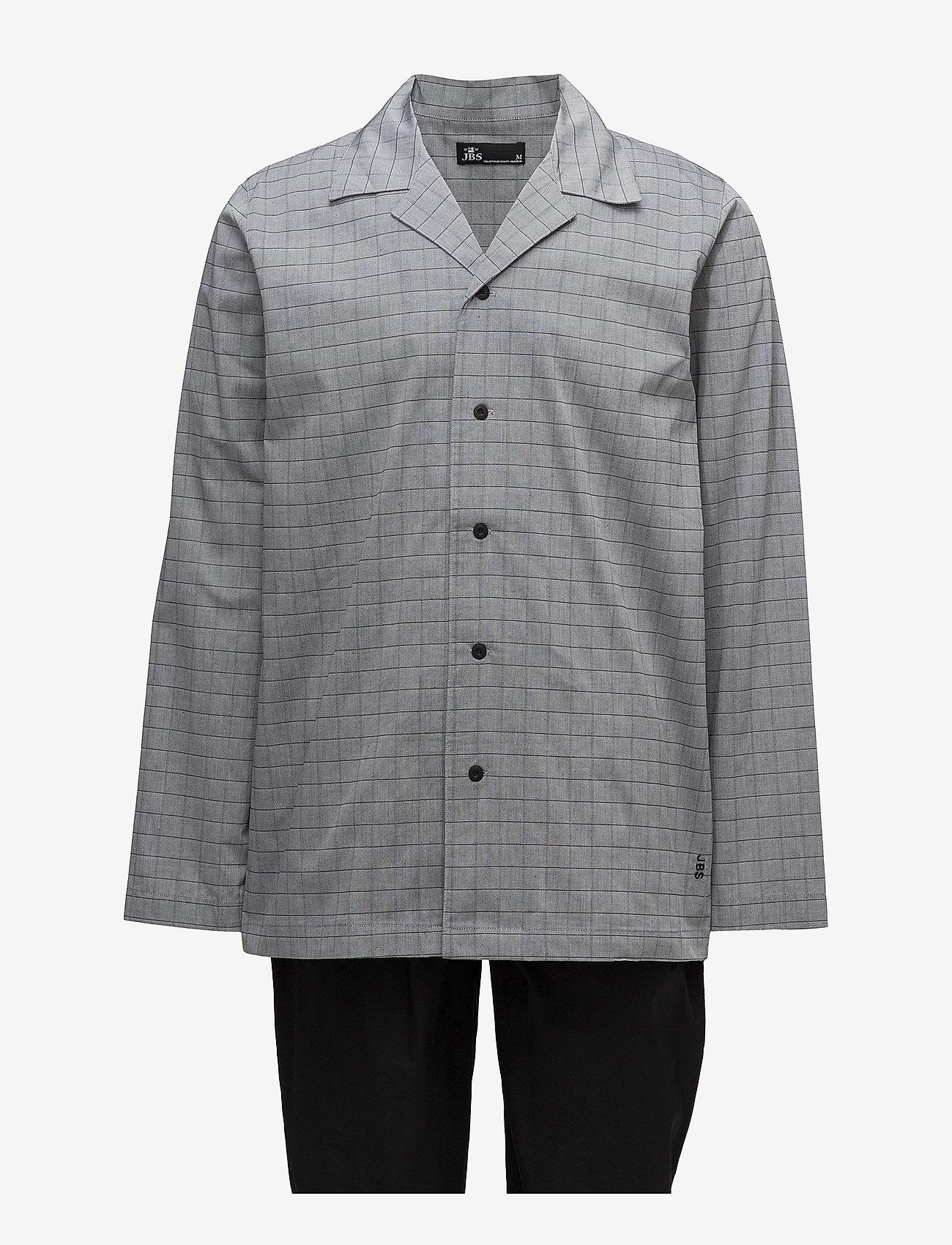 JBS - JBS, pajama button down - piżamy - black - 0