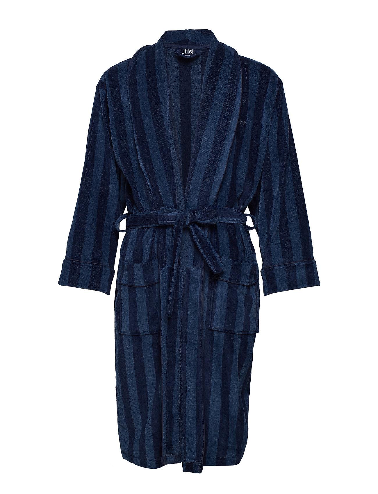 JBS JBS bathrobe - BALCK/NAVY
