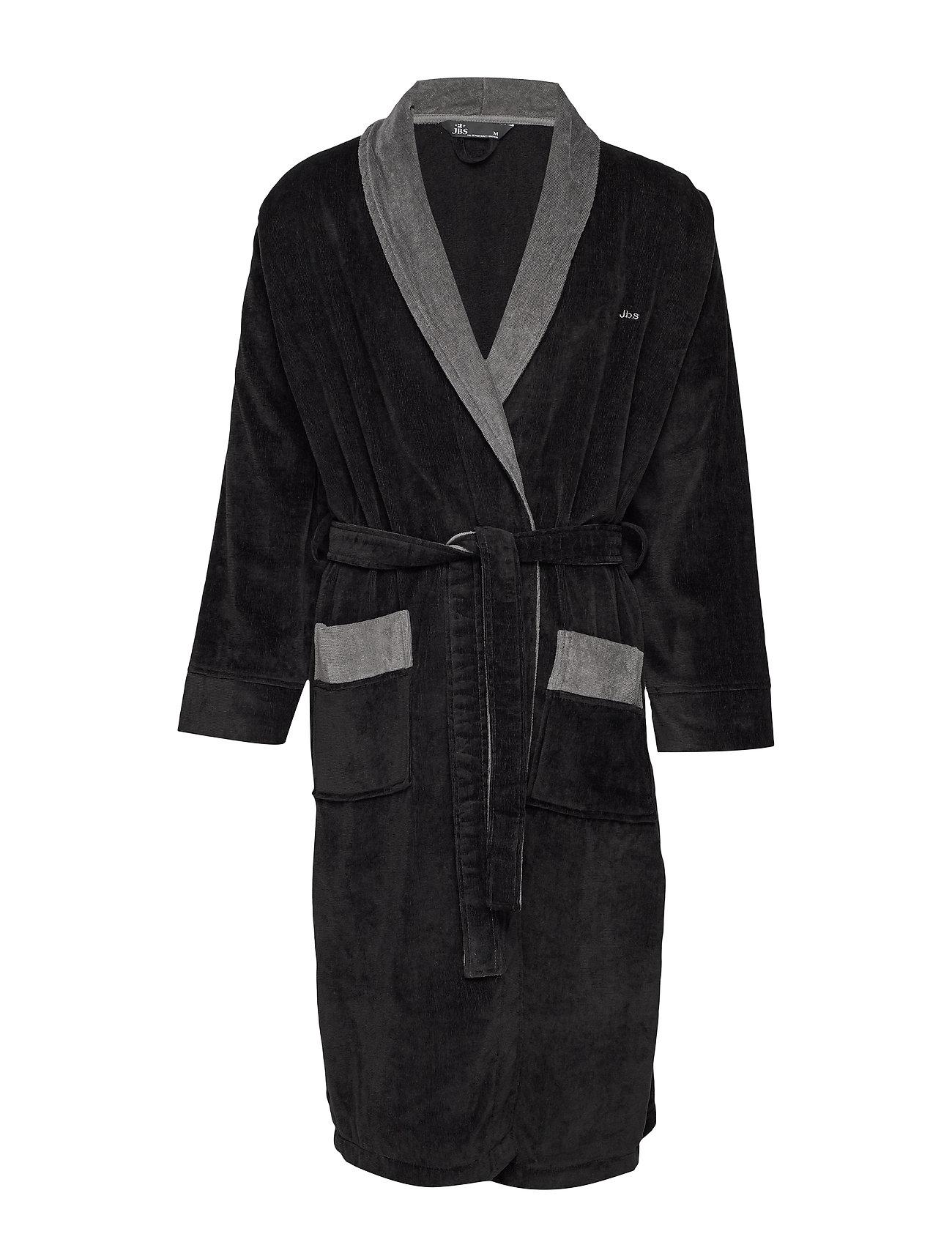 JBS JBS bathrobe - BLACK/GREY
