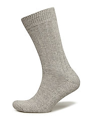 LBS SOCKLET-FROTTE RIB COTTON - GREY