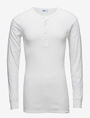 JBS - Original longsleeve buttons - basic t-shirts - white - 0