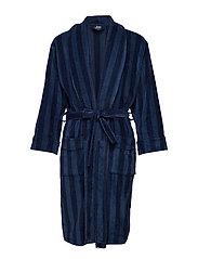 JBS bathrobe - BALCK/NAVY