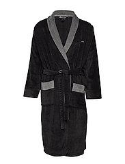 JBS bathrobe - BLACK/GREY