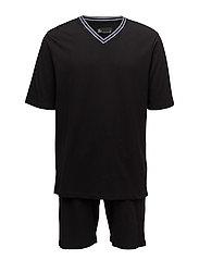 JBS pajamas, t-shirt-shorts - BLACK