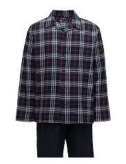 JBS pajamas button down, flla. - CHECKS