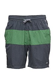 Badeshorts m/inderfoer - NAVY/GREEN