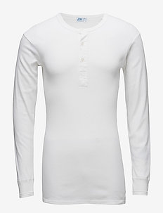 Original longsleeve buttons - WHITE