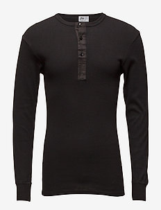 Original longsleeve buttons - basic t-shirts - black