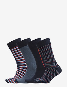 4-pack JBS box socks cotton - NAVY MULTI