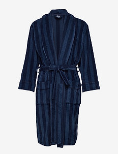 JBS bathrobe - morgenkåber - balck/navy