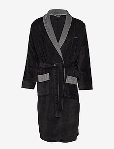 JBS bathrobe - BLACK/GREY