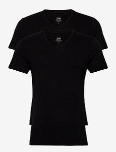JBS 2-pack V-neck bamboo - basis-t-skjorter - black
