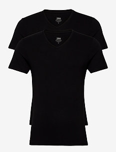 JBS 2-pack V-neck bamboo - basic t-shirts - black