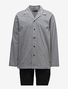 JBS, pajama button down - BLACK