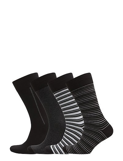 4-pack JBS box socks cotton - BLACK/GREY